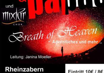 "Konzert ""Breath of Heaven"" am 15.12.19 in der Kirche St. Michael Rheinzabern"